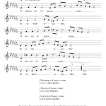 Dreamers of Peace  - Music Score