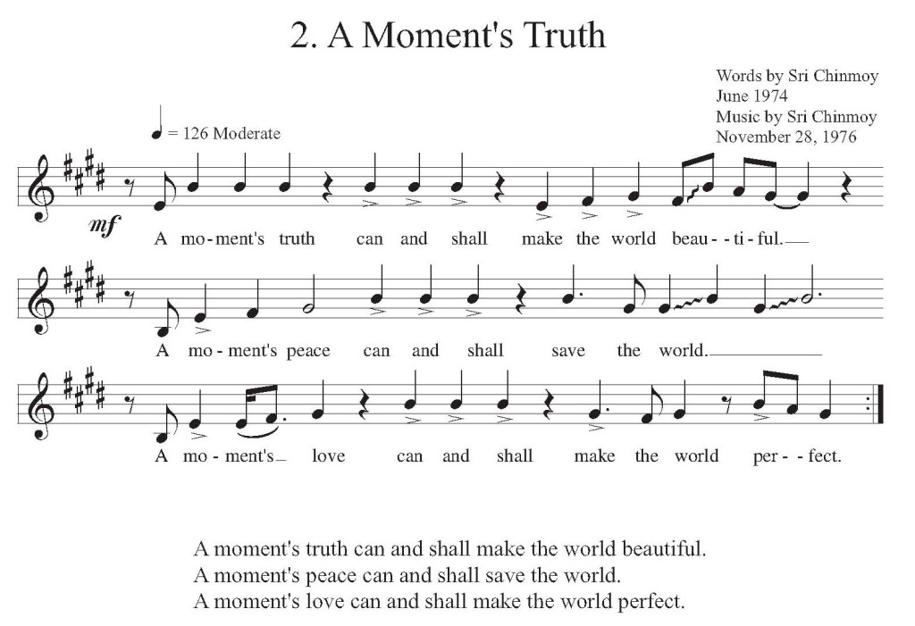 A Moment's Truth - Music Score