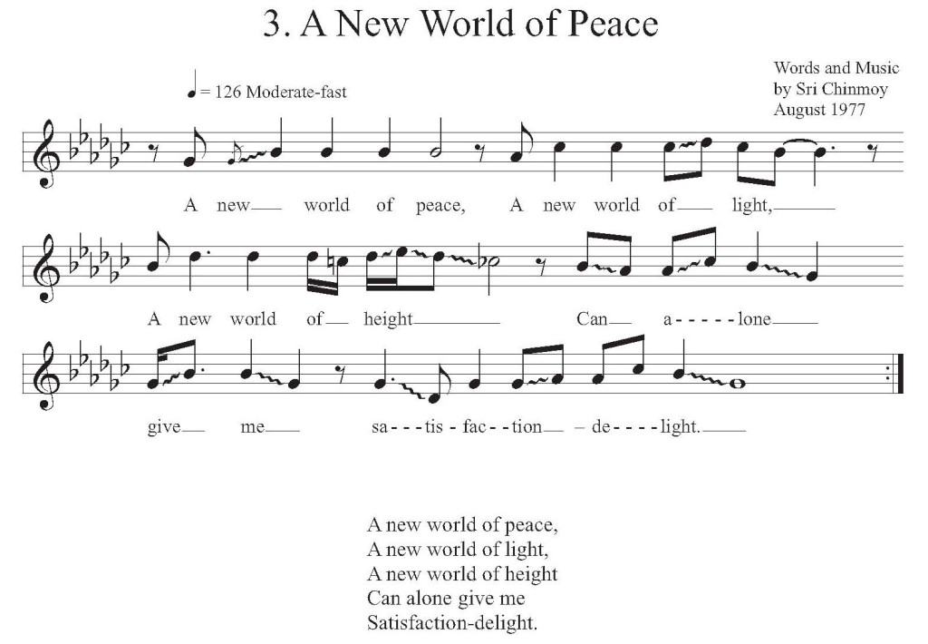 A New World of Peace - Music Score