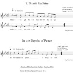 In the Depths of Peace - Music Score